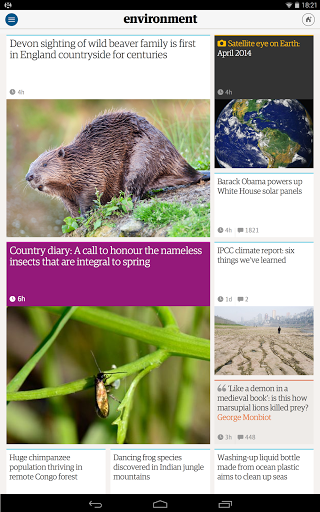 Скриншот The Guardian для Android