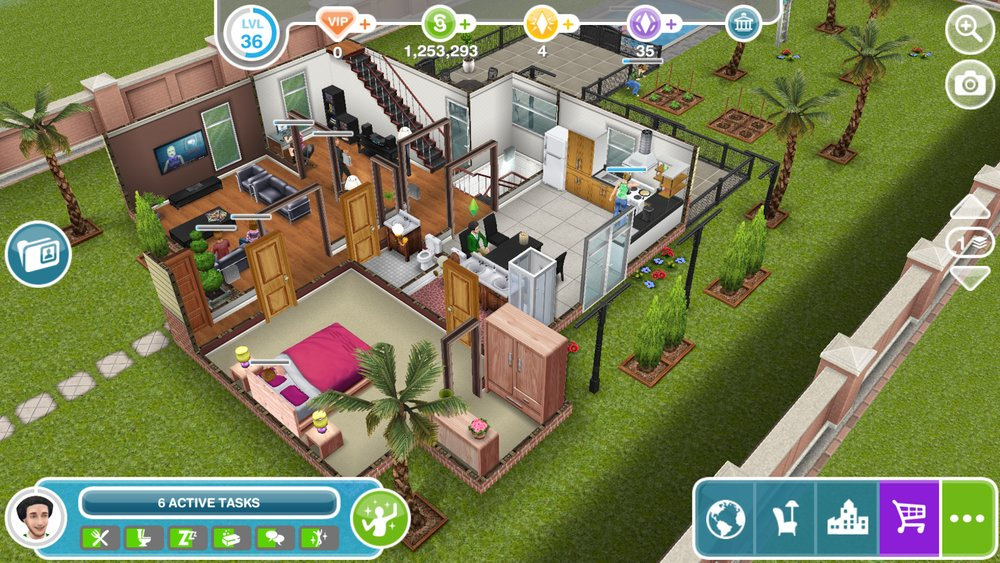 Скриншот The Sims FreePlay для Android