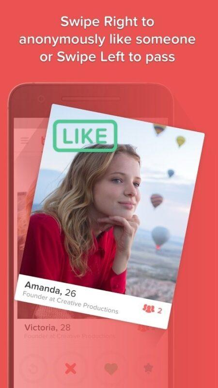 Скриншот Tinder для Android