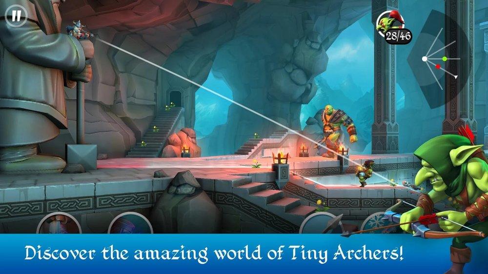 Скриншот Tiny Archers для Android
