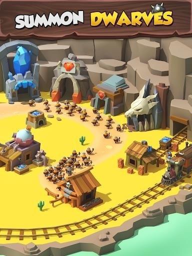 Скриншот Tiny Miners — Idle Clicker для Android
