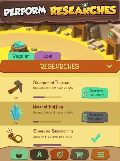 Скриншот Tiny Miners — Idle Clicker для Android