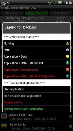 Скриншот Titanium Backup — root для Android