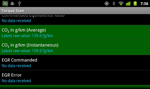 Скриншот TorqueScan (Torque OBD Plugin) для Android