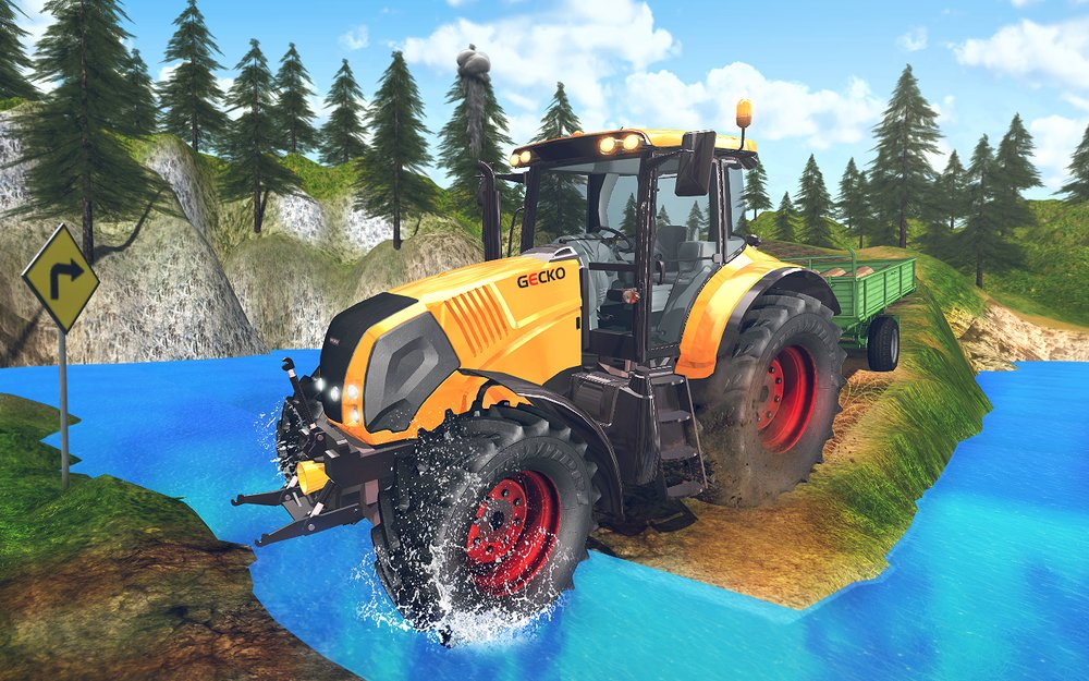 Скриншот Tractor driver cargo 3D для Android