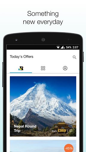 Скриншот TravelBird | Travel Deals для Android