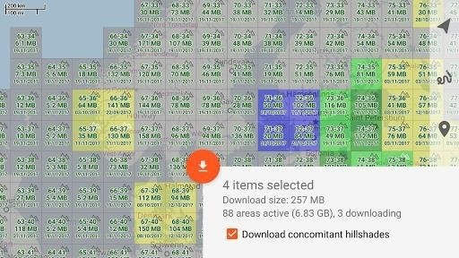 Скриншот Trekarta для Android