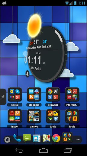 Скриншот TSF Clock Widget для Android