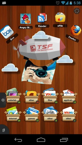 Скриншот TSF Shell для Android