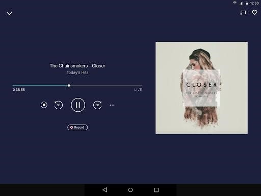 Скриншот TuneIn Radio Pro для Android