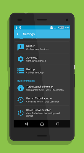 Скриншот Turbo Launcher EX для Android