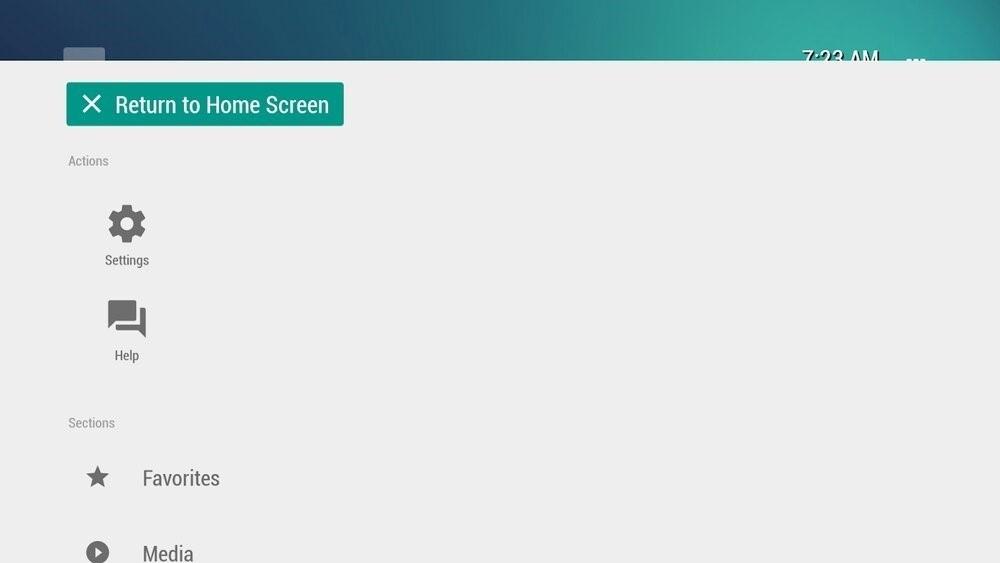 Скриншот TVLauncher для Android