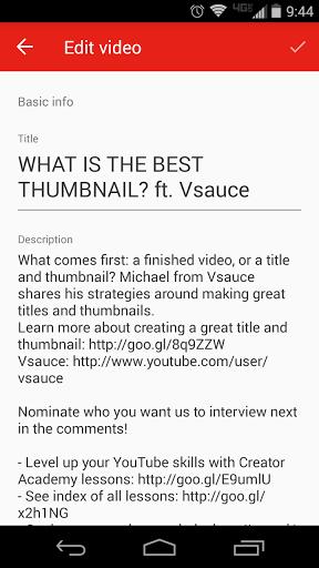 Скриншот Творческая студияYouTube для Android