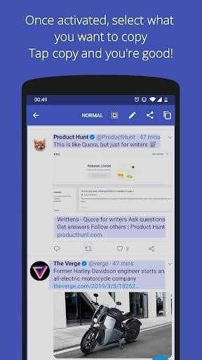 Скриншот Universal Copy для Android