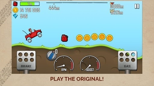 Скриншот Up Hill Racing: Hill Climb для Android