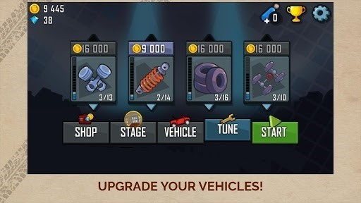 Скриншот Up Hill Racing: Hill Climb для Android