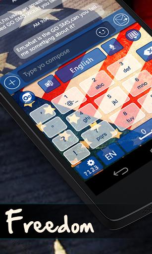 Скриншот USA Freedom GO Keyboard Theme для Android