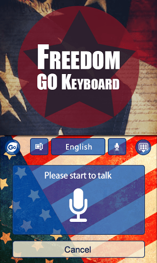 Скриншот USA Freedom GO Keyboard Theme для Android