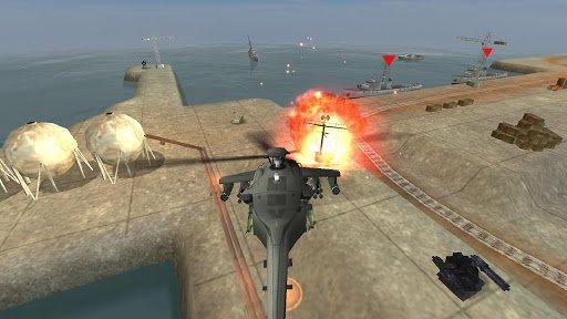 Скриншот ВЕРТОЛЕТ БИТВА : 3D полет для Android