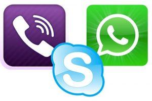 Интернет-приложения (skype, viber и прочие)