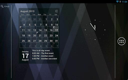 Скриншот Виджет Календарь для Android