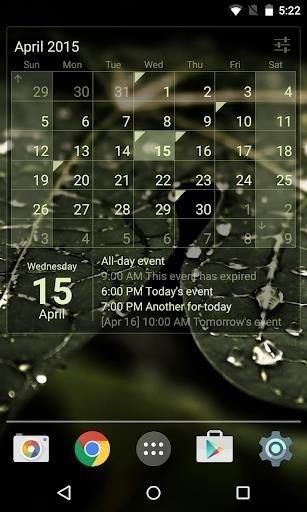 Скриншот Виджет Календарь Premium для Android