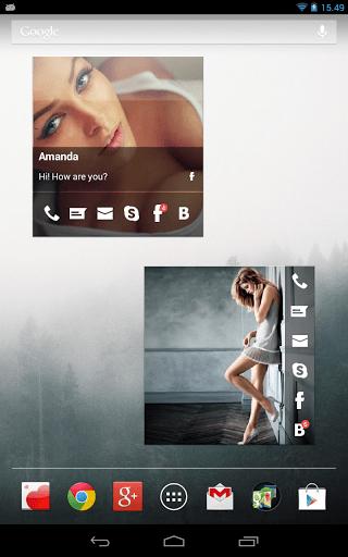 Скриншот Виджеты контактов: Love (Free) для Android