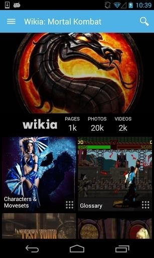 Скриншот Викия: Mortal Kombat для Android