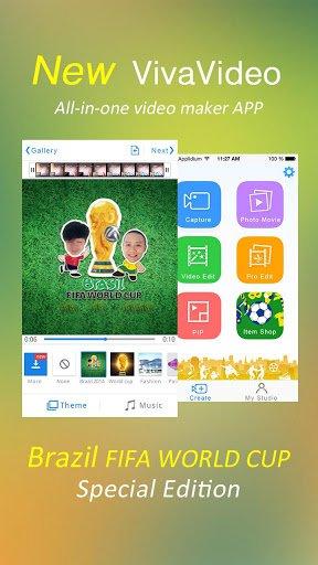 Скриншот VivaVideo: Free Video Editor для Android