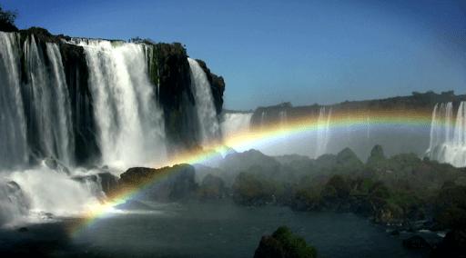 Скриншот Водопад и Радуга живые обои для Android
