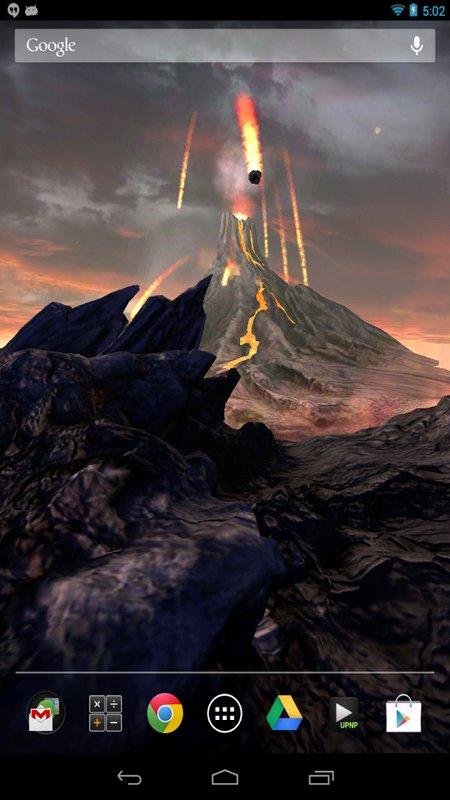 Скриншот Volcano 3D для Android