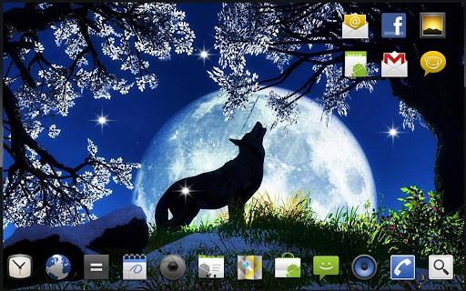 Скриншот Волк Песня HD живые обои для Android