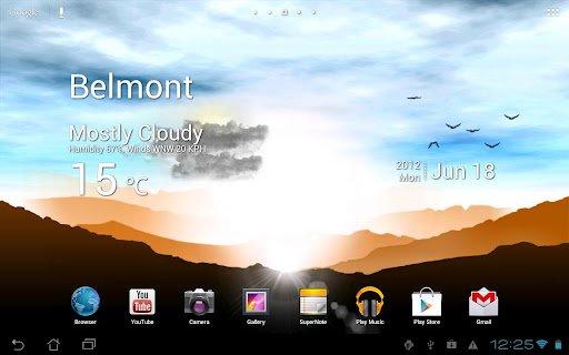 Скриншот Восход Живые Обои Sunrise для Android