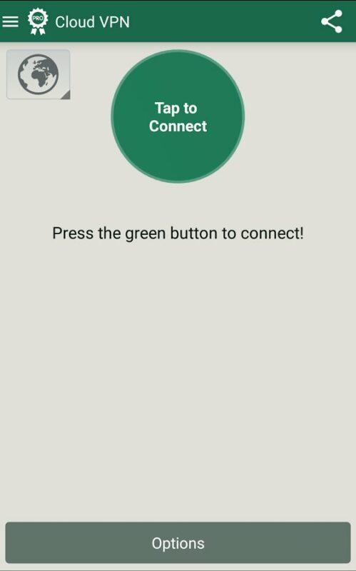 Скриншот VPN Cloud для Android