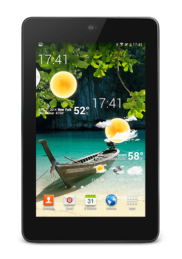 Скриншот Weather Animated Widgets для Android