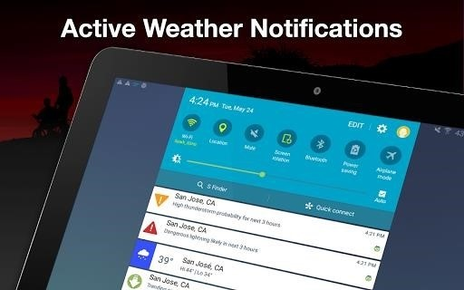 Скриншот Weather by WeatherBug для Android