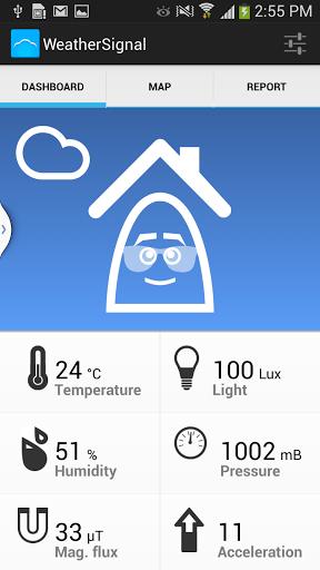 Скриншот WeatherSignal климат датчики для Android