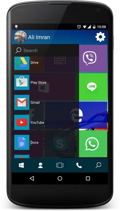 Скриншот Win 10 Launcher для Android