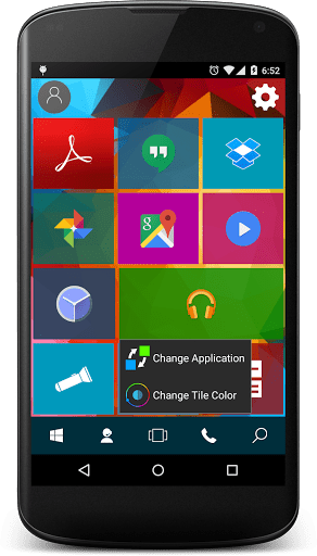 Скриншот Win 10 Launcher для Android