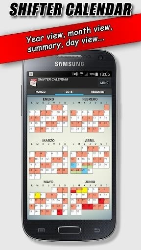 Скриншот Work Shift Calendar для Android