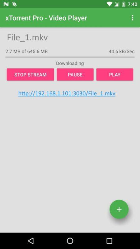 Скриншот xTorrent Pro — Video Player для Android