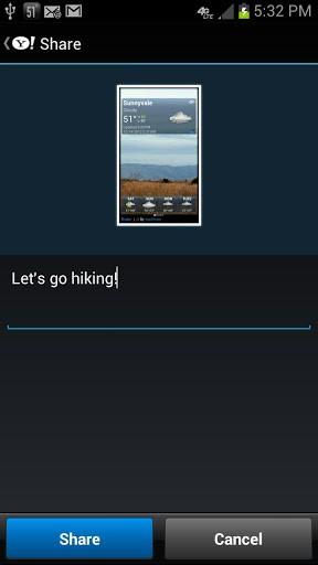 Скриншот Yahoo! Weather / Yahoo! Погода для Android