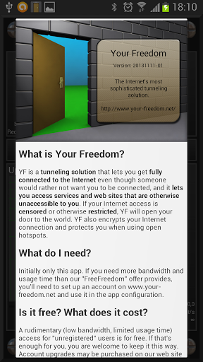 Скриншот Your Freedom для Android
