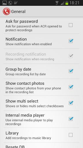 Скриншот Запись звонков ACR для Android