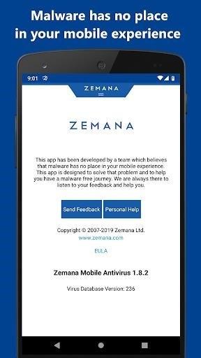 Скриншот Zemana Mobile Antivirus для Android