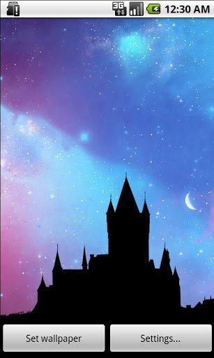 Скриншот Живые Обои Ночное Небо Free / Nightfall LWP для Android
