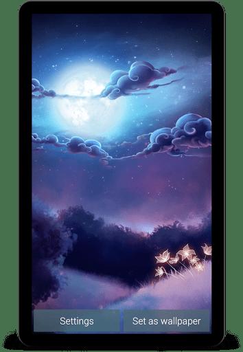 Скриншот Живые обои Звездный свет RU / Starlight LWP для Android
