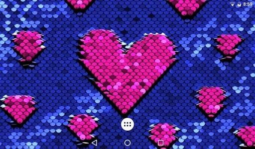 Скриншот Живые пайетки для Android
