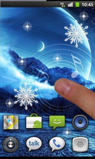 Скриншот Зима Луна Живые Обои для Android