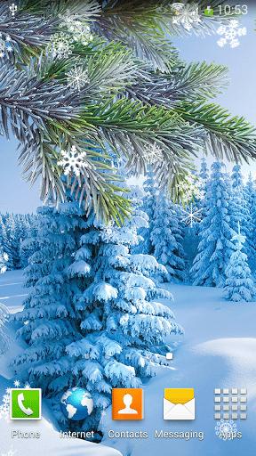 Скриншот Зимние Живые Обои для Android